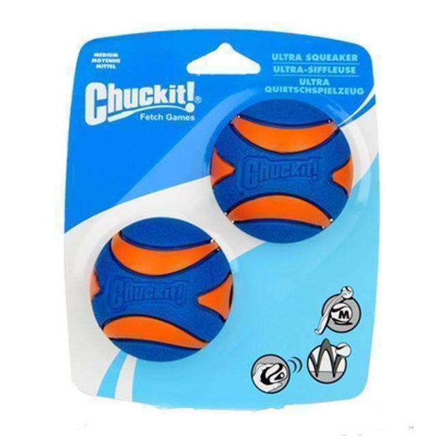 Chuckit Ultra Squeaker Ball 2-Pack (S/M) Toy - iplayfetch.com