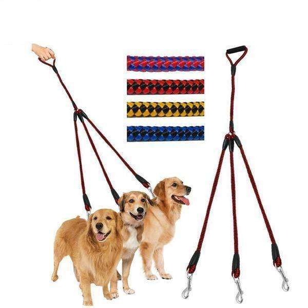 Triple Dog Leash Ergonomic Handle Leash - iplayfetch.com