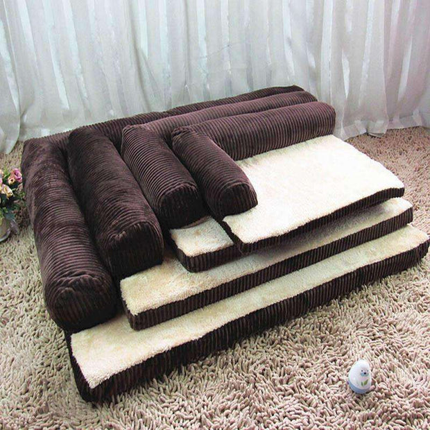 Luxury Corduroy Foam Dog Sofa Bed Bed - iplayfetch.com