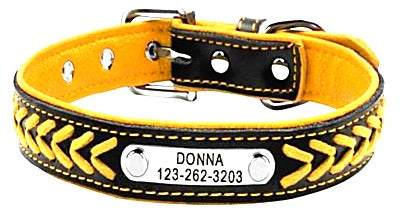 Comfortable Leather Customize Dog Collar