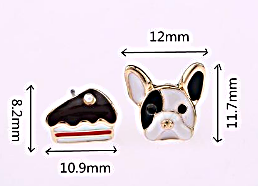 Size Chart for French Bulldog & Cake Earring