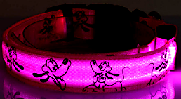 pink cartoon led dog collar