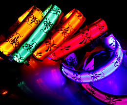 cartoon led dog collar