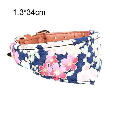 Limited Edition Flower Print Leather Dog Collar