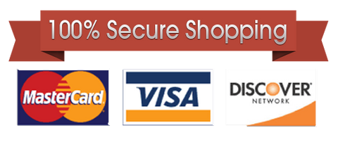 Secure Shopping. Accept all Major Credit Cards