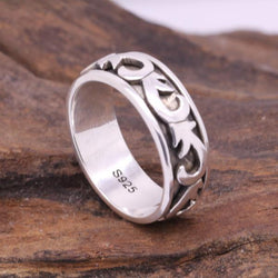 Handmade 925 Sterling Silver Thailand Vintage Spinner Ring - [product_collection]