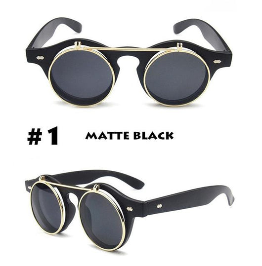 JackJad Vintage Round Retro SteamPunk Sunglasses - [product_collection]