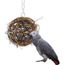 Cockatiel Parakeet Chewing  Swing Loofah Bird Vine Ball Toy - [product_collection]