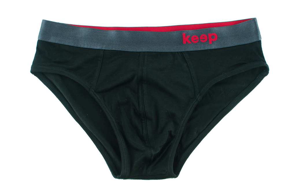 Jet Black Men's Brief