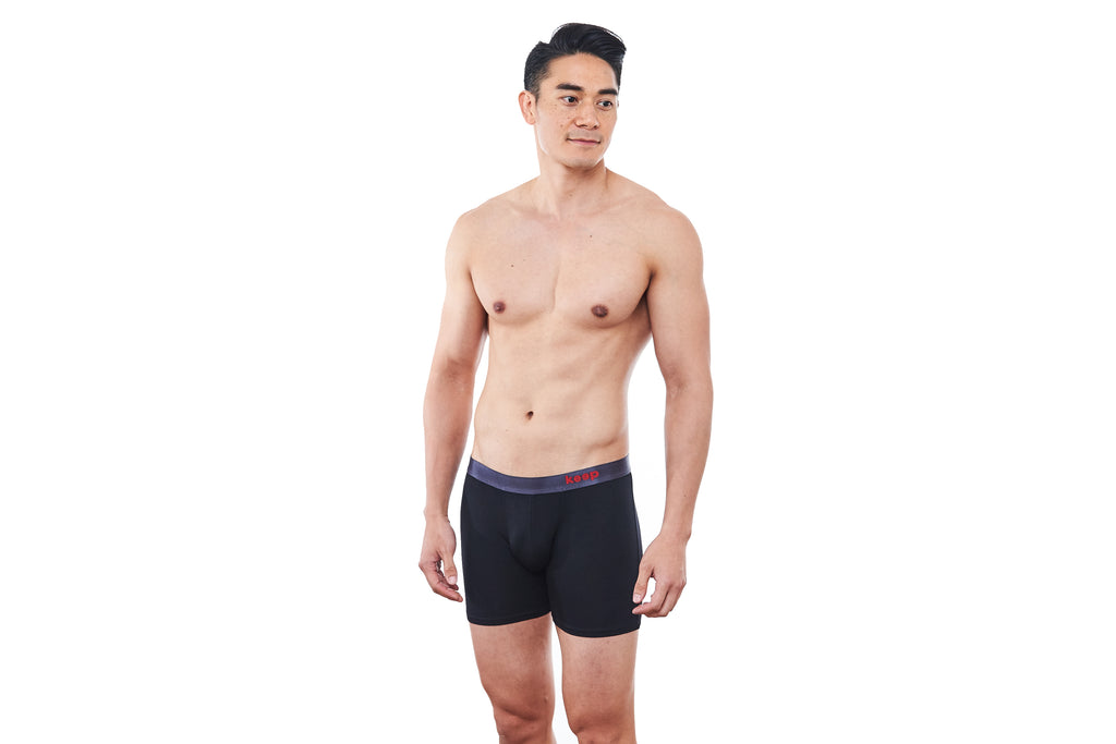 Jet Black Men's Boxer Brief