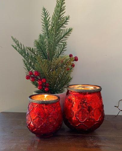 Christmas Votive red Large