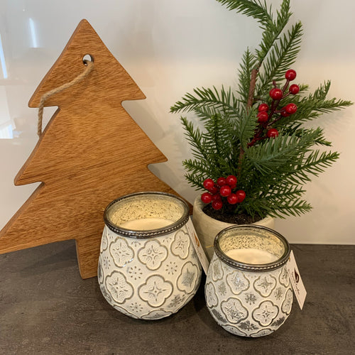 Christmas Votive White Large