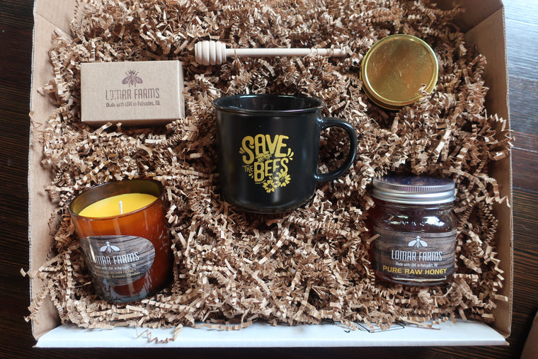 Gift Box Sampler-Candles, Soap, Mug & Honey