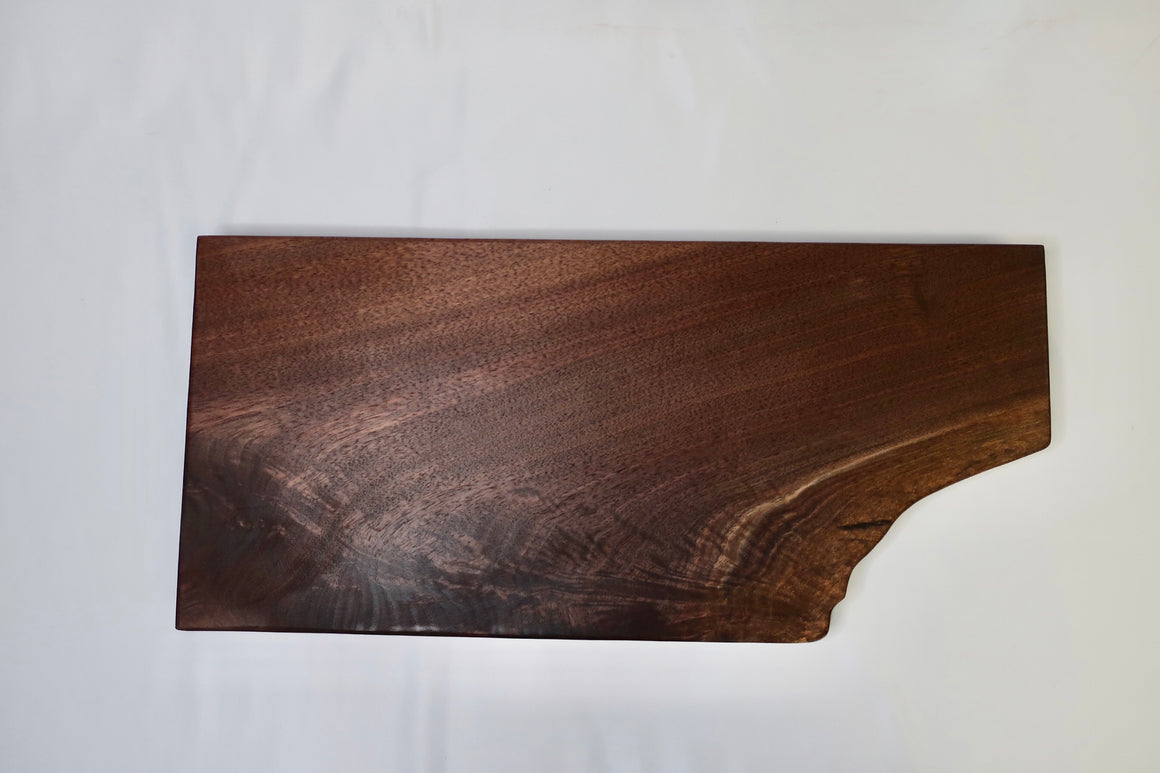 "Charcuterie Board ""L"" Black Walnut"