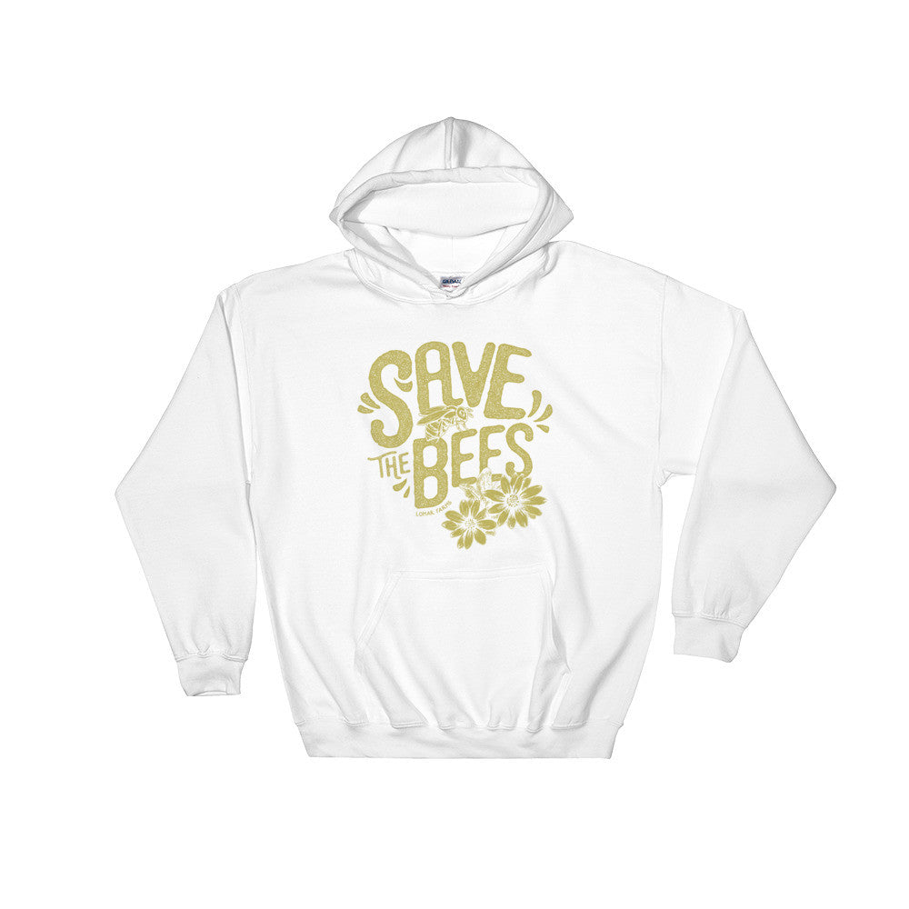 """Save The Bees"" Hooded Sweatshirt"