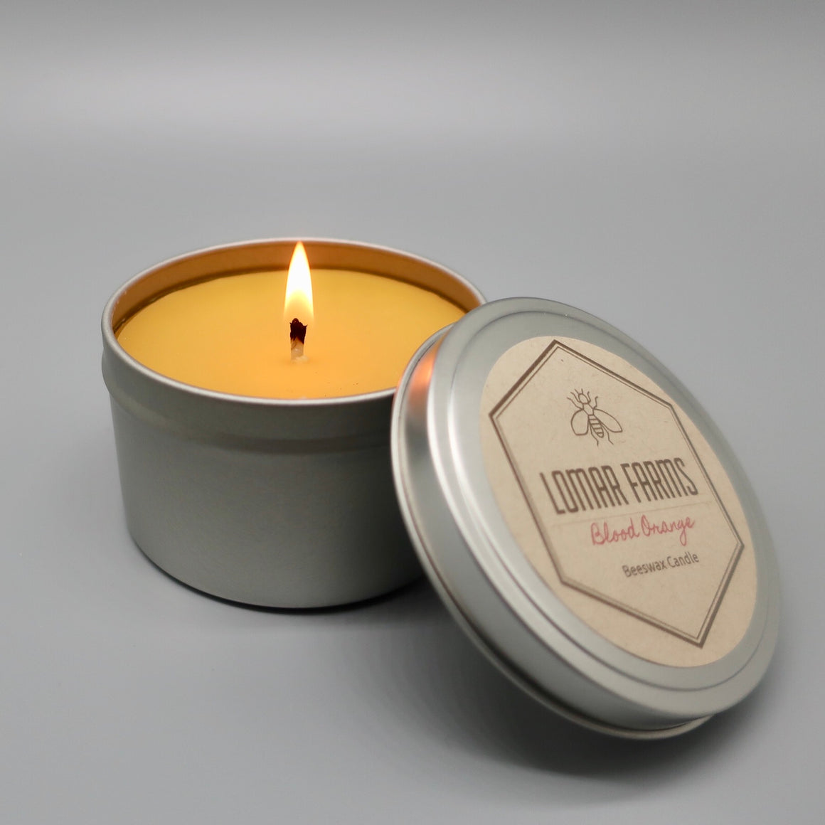"""The Traveler""- Unscented Beeswax Candle Tin"