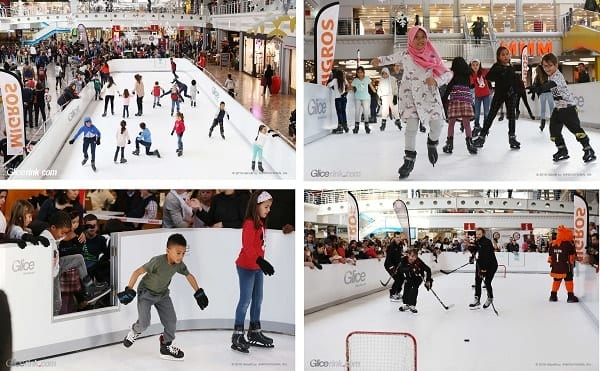 People skating on Glice Rink