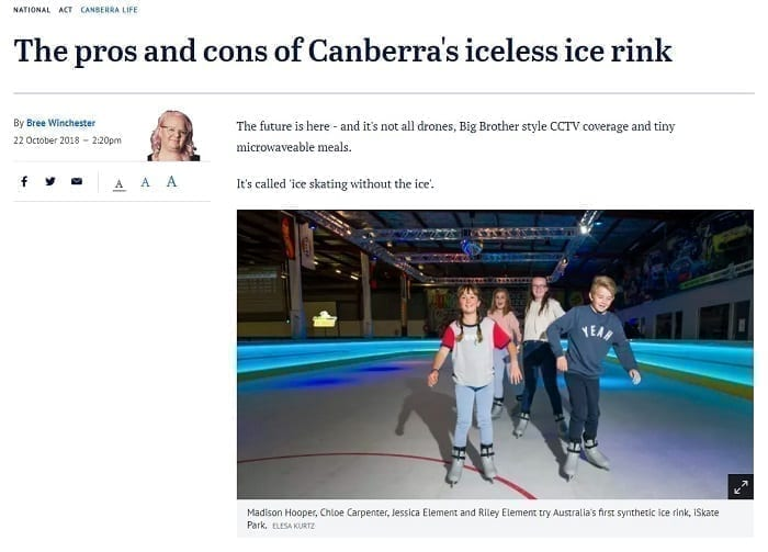 The pros and cons of Canberra's iceless ice rink