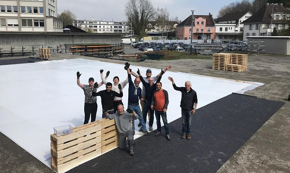 Shakespeare on Glice Artificial Ice Rink As Stage for a Play in Lucerne