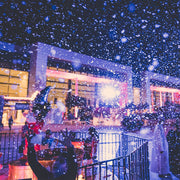 Falling snow during the Winter Village 2017 in Oman