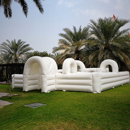 Desert Snow's Giant Inflatable Maze during the Winter Village 2017 in Oman
