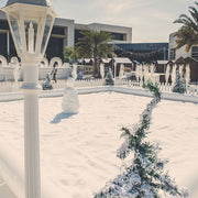 Desert Snow's Snow Fight Zone during the Winter Village 2017 in Oman