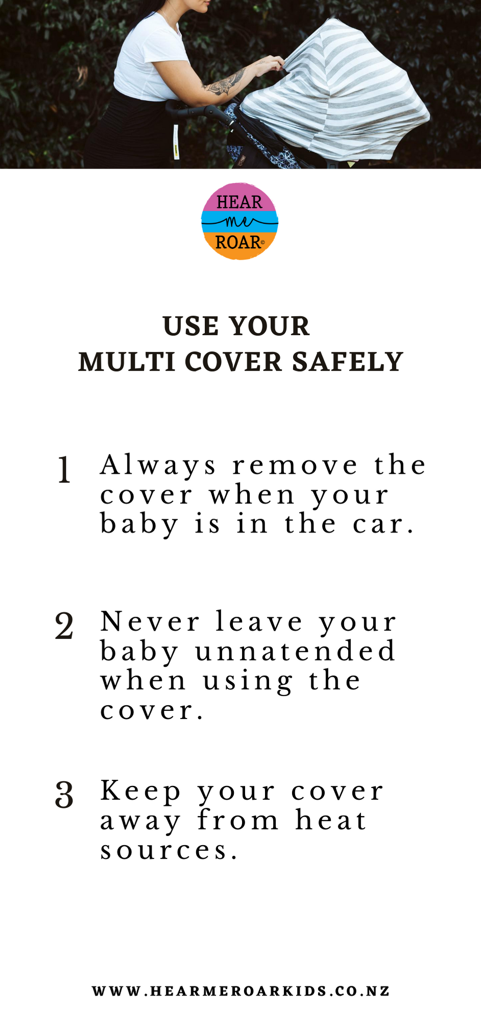 use your 5in1 multi cover safely