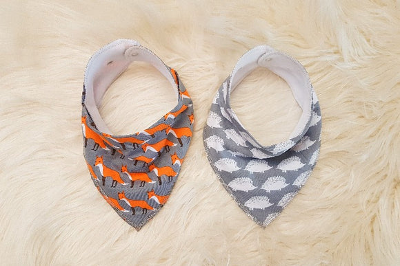 Grey | Bandana Bib Set
