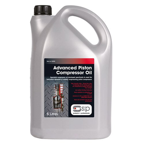 SIP 5 Litre SAE40 Advanced Piston Compressor Oil
