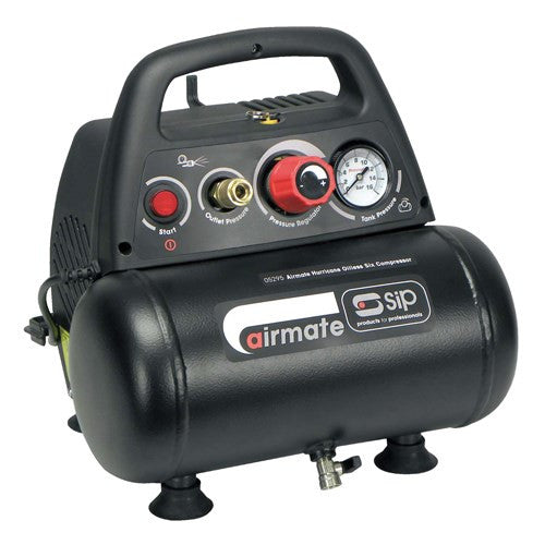 SIP 6 Litre Airmate Oil Free 1.5HP Air Compressor (6.4 CFM)