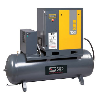 SIP 500 Ltr Sirio 15-10-500ES 20HP Screw Compressor (65CFM)