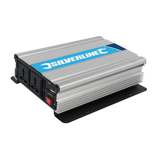 Silverline 1000w 12v Power Inverter (12v to 230v)
