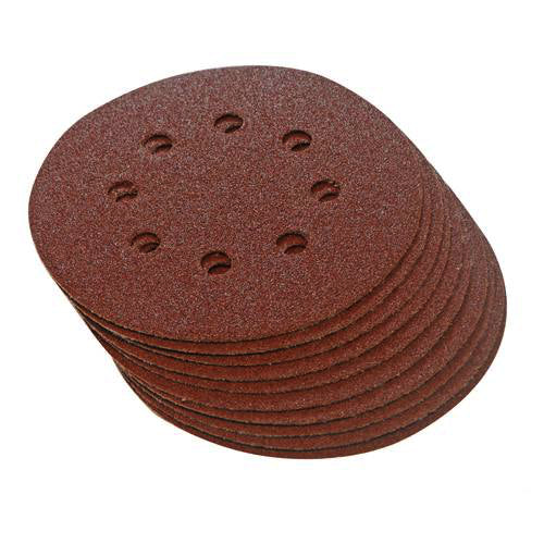 125mm Hook & Loop Punched 240 Grit Discs (10pk)