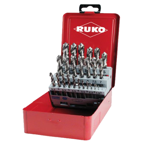 Ruko 25pc Professional HSS Ground Twist Drill Set (1-13mm)