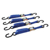 2m x 25mm Ratchet Tie Down Strap S-Hook (4pc)