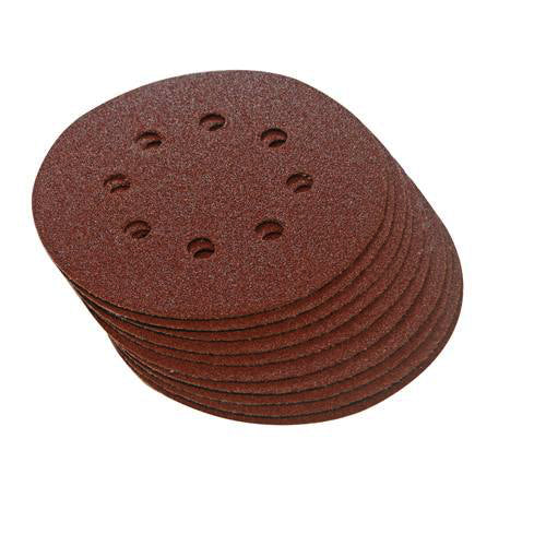 115mm Hook & Loop Punched 240 Grit Discs (10pk)