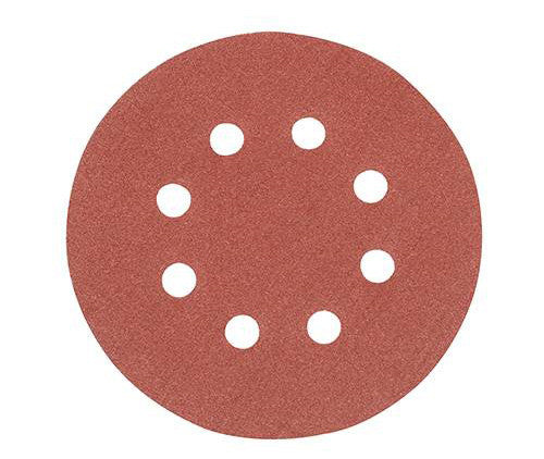 125mm Hook & Loop Punched 120 Grit Discs (10pk)