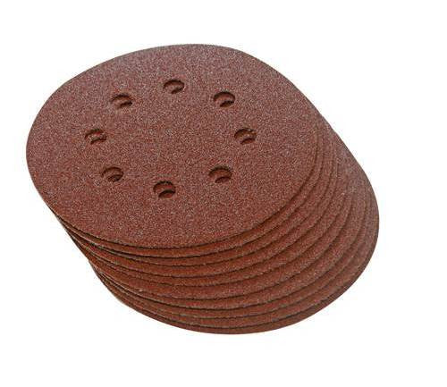 115mm Hook & Loop Punched 60 Grit Discs (10pk)