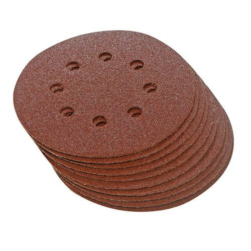 125mm Hook & Loop Punched 80 Grit Discs (10pk)