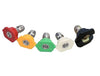 SIP Washer Nozzle Set (White, Yellow, Green, Red & Black)