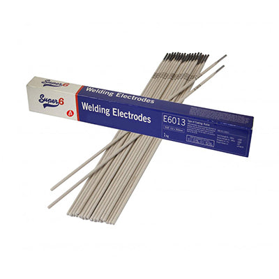 Super 6 E6013 2.5mm Mild Steel Electrodes (1Kg)