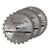 Silverline 200mm 3pk TCT Circular Saw Blades (20, 40 & 48T)