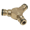"1/2"" Quick Connect Male 3-Way Brass Water Connector"