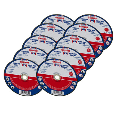 Faithfull 230 x 1.8mm Stainless Steel Cutting Discs (10pk)