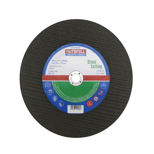 Faithfull 300 x 3.5 x 20mm Stone Con Saw Disc