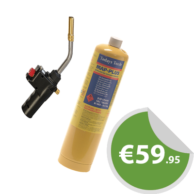 Faithfull Quick Pro Gas Torch & 453g Map Gas Cylinder