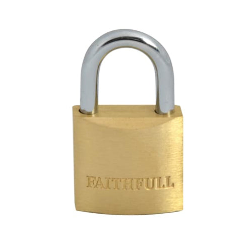 Faithfull 25mm Brass Padlock (3 Keys)