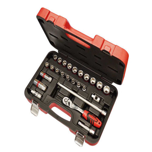 Faithfull 25pc 3/8'' Metric Socket Set (6 - 24mm)
