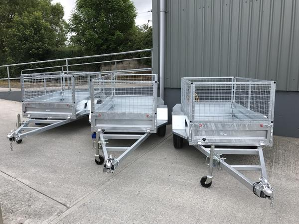 8 x 4 Galvanised Single Axle Trailer with Lockable Hitch