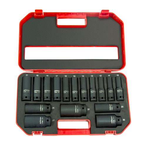 Jefferson 16pc 1/2'' Deep Impact Socket Set (10 - 32mm)